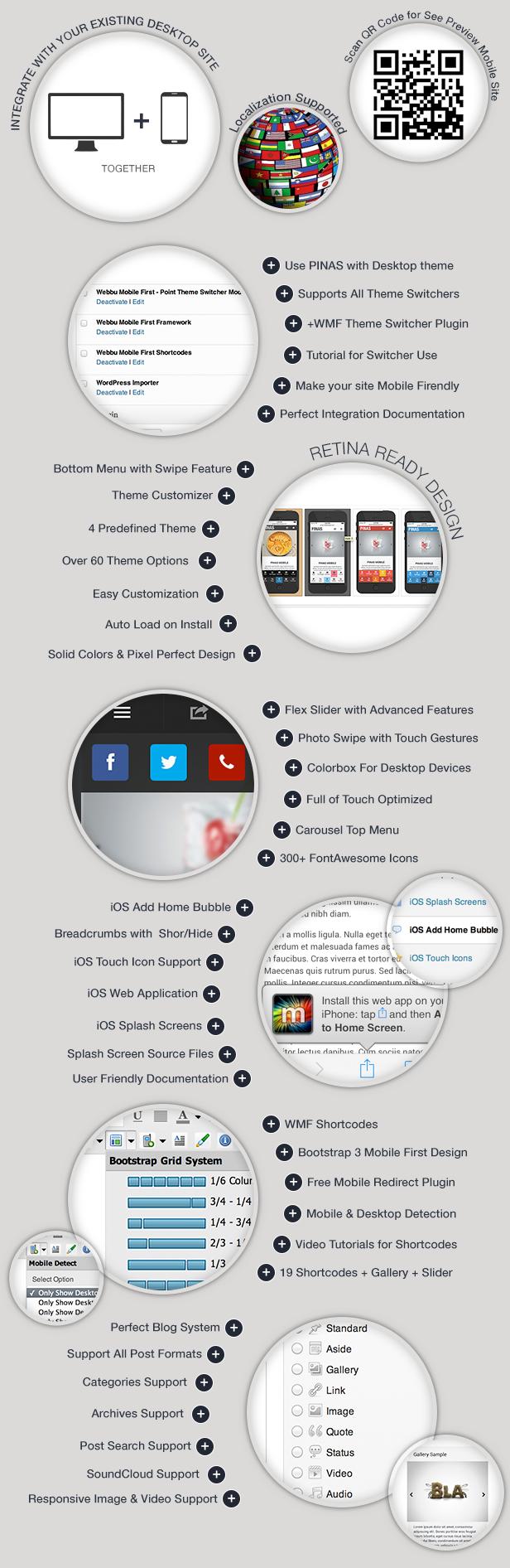 WordPress theme Pinas Premium Mobile Theme (Mobile)