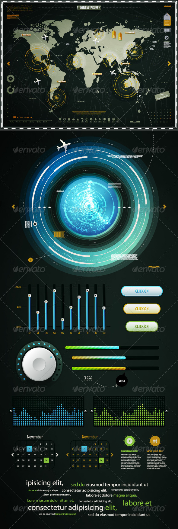 GraphicRiver Infographics Elements of the World Map and EQ 710555