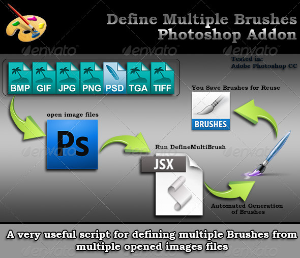 GraphicRiver Define Multiple Brushes Script for Photoshop 6800662