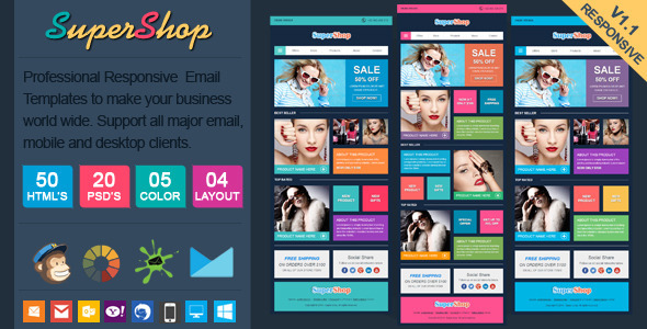 ThemeForest SuperShop Responsive Ecommerce Email Template 6801165