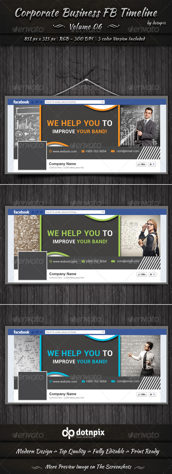 GraphicRiver Corporate Business FB Timeline Cover Volume 6 6801496