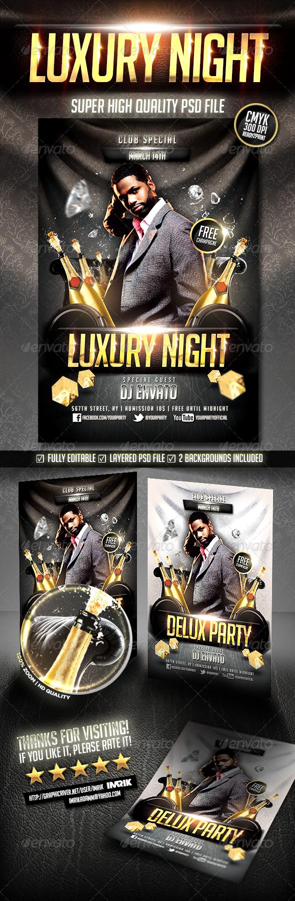 GraphicRiver Luxury Night Flyer 6801542