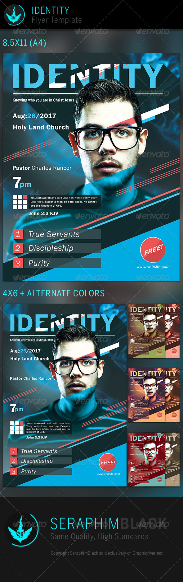 GraphicRiver Identity Church Flyer Template 6801698