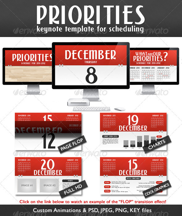 GraphicRiver Priorities Schedule Presentation Full HD 710637