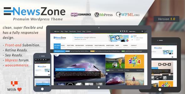 ThemeForest NewsZone Responsive WordPress News Magazine Blog 6681469