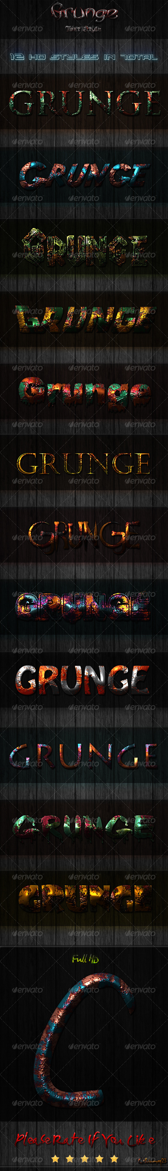 GraphicRiver 12 Ultra HD Grunge Text Styles 6802257