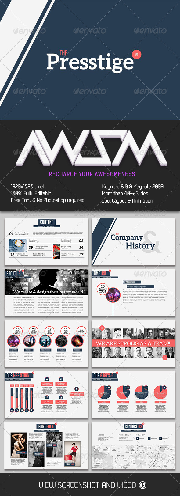 GraphicRiver Presstige Keynote Template 6802329