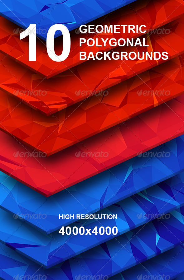 GraphicRiver TOP 10 Geometric Polygonal Hi-Res Backgrounds 6796486