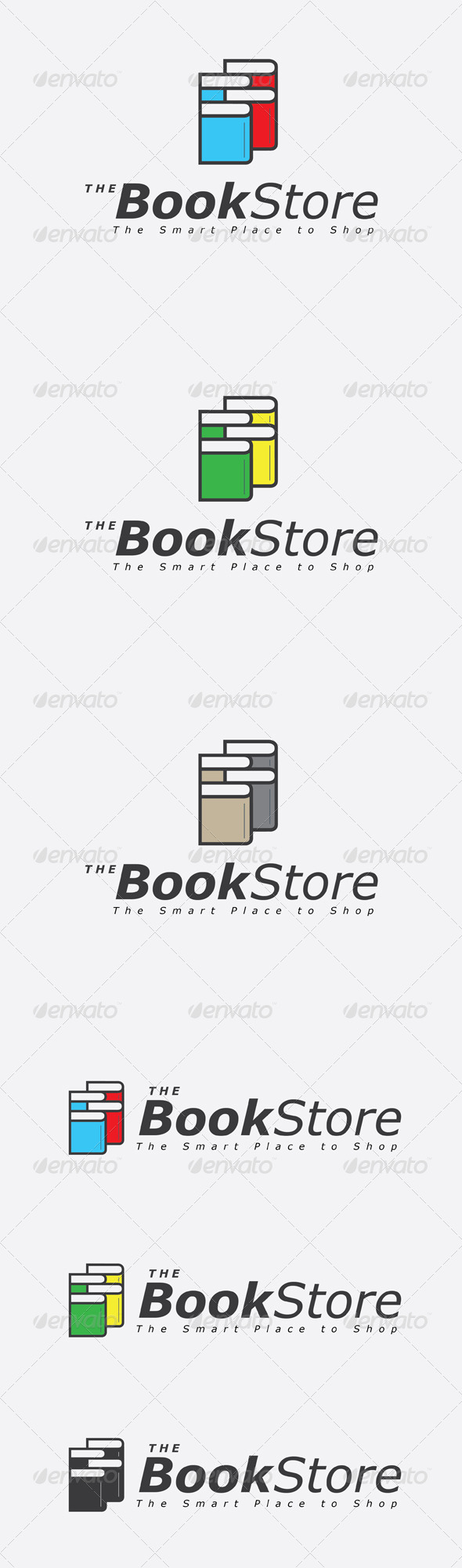 GraphicRiver Book Store Logo 6802784