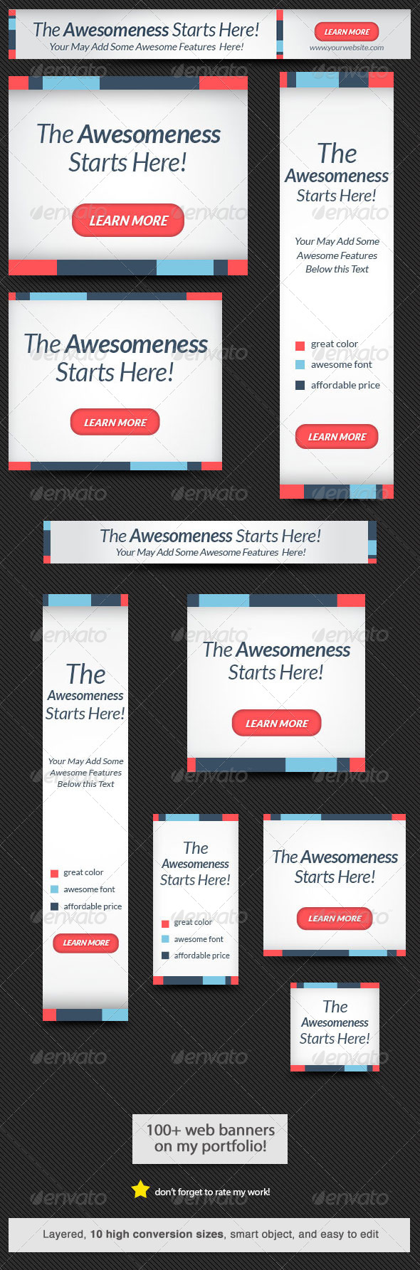 GraphicRiver Awesomeness Web Banner 6803033