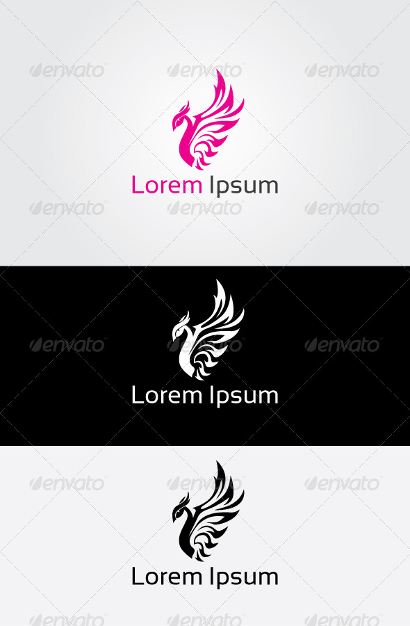 GraphicRiver Fly Pink Logo 6803054