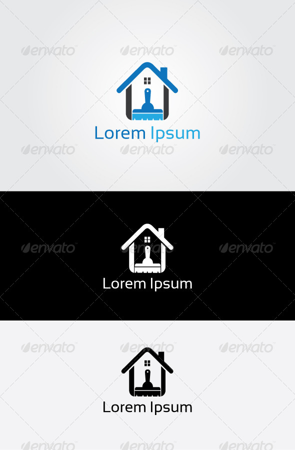 GraphicRiver House Clean Logo 6803079