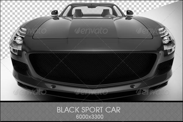 GraphicRiver Black Sports Car 6803565
