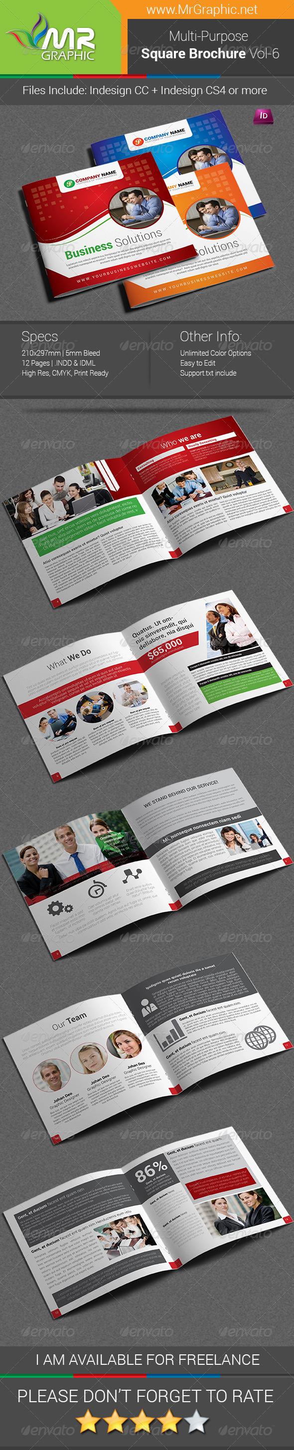 GraphicRiver Multipurpose Square Brochure Template Vol-06 6803567