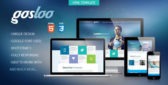 Gosloo - Responsive Portfolio Template - Creative Site Templates