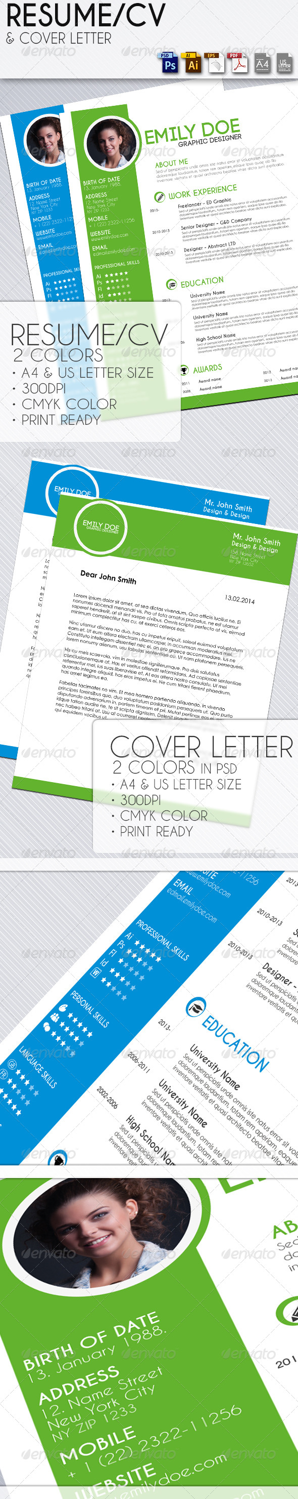 GraphicRiver Resume with Cover Letter 6804038