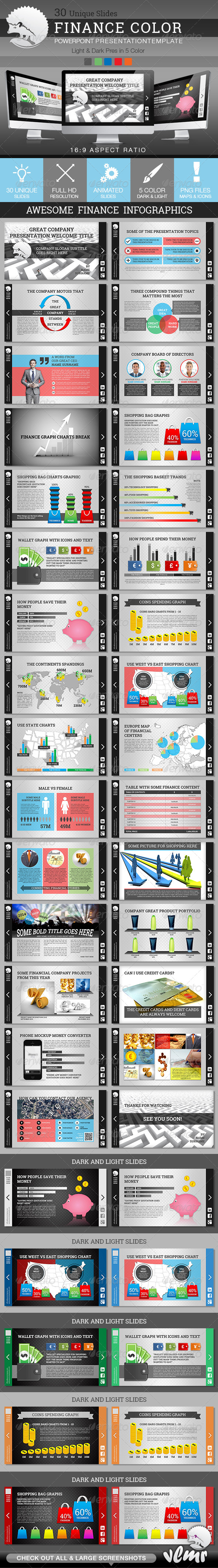 GraphicRiver Finance Color PowerPoint Presentation Template 6800339