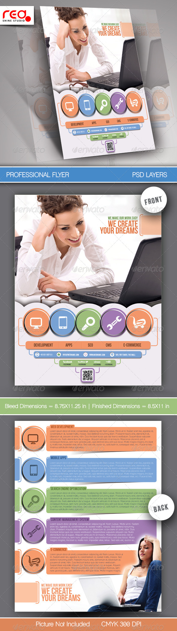 GraphicRiver Tech Multipurpose Business Flyers Template 6804314