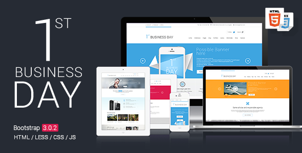 1st Business Day - Corporate Site Templates