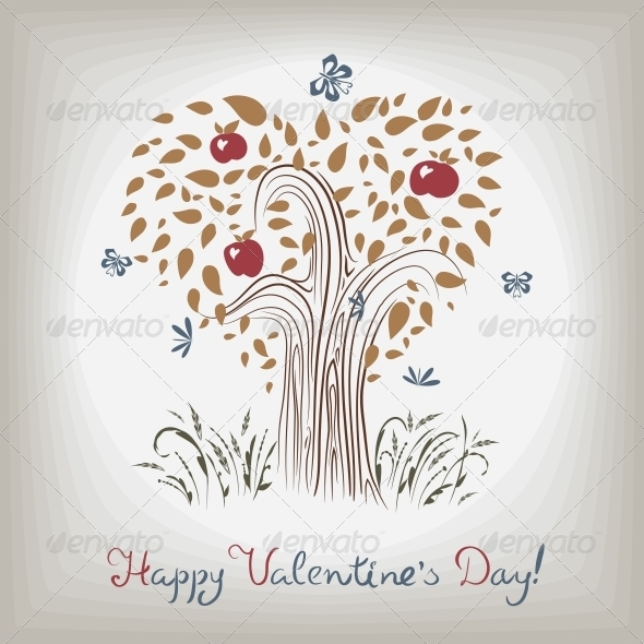 GraphicRiver Valentine s Tree 6804445