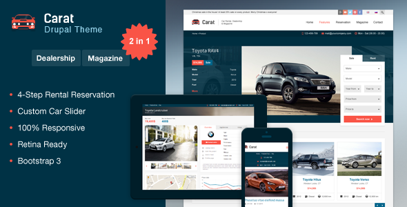 Carat - Responsive Automotive Drupal Theme - Retail Drupal