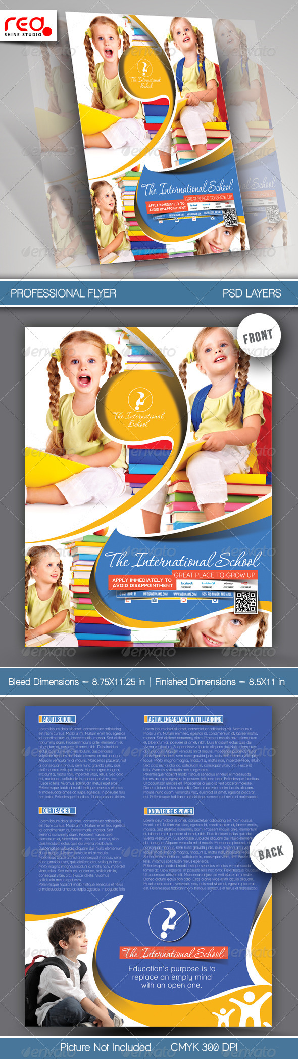 GraphicRiver Junior School Promotion Flyer Template 6804565
