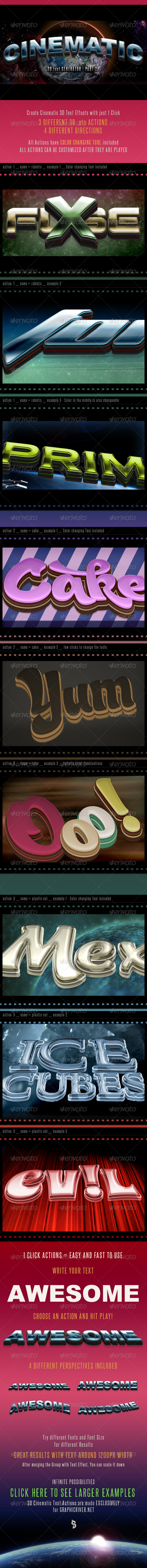 GraphicRiver 3D Cinematic Text Generator 2 Actions 6804573