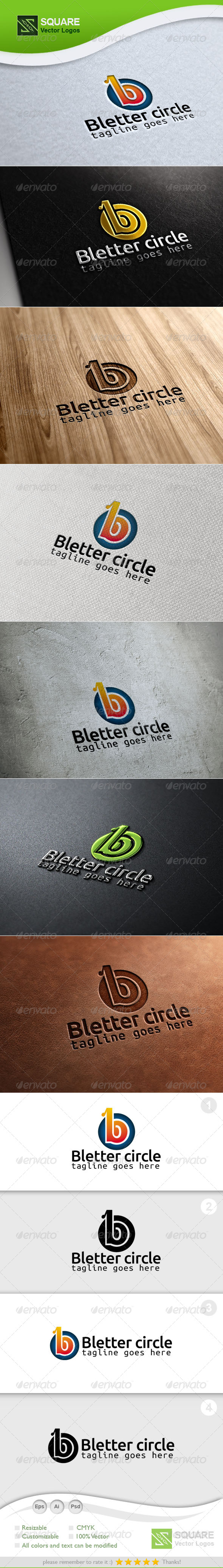 GraphicRiver B Circle Vector Logo Template 6803425