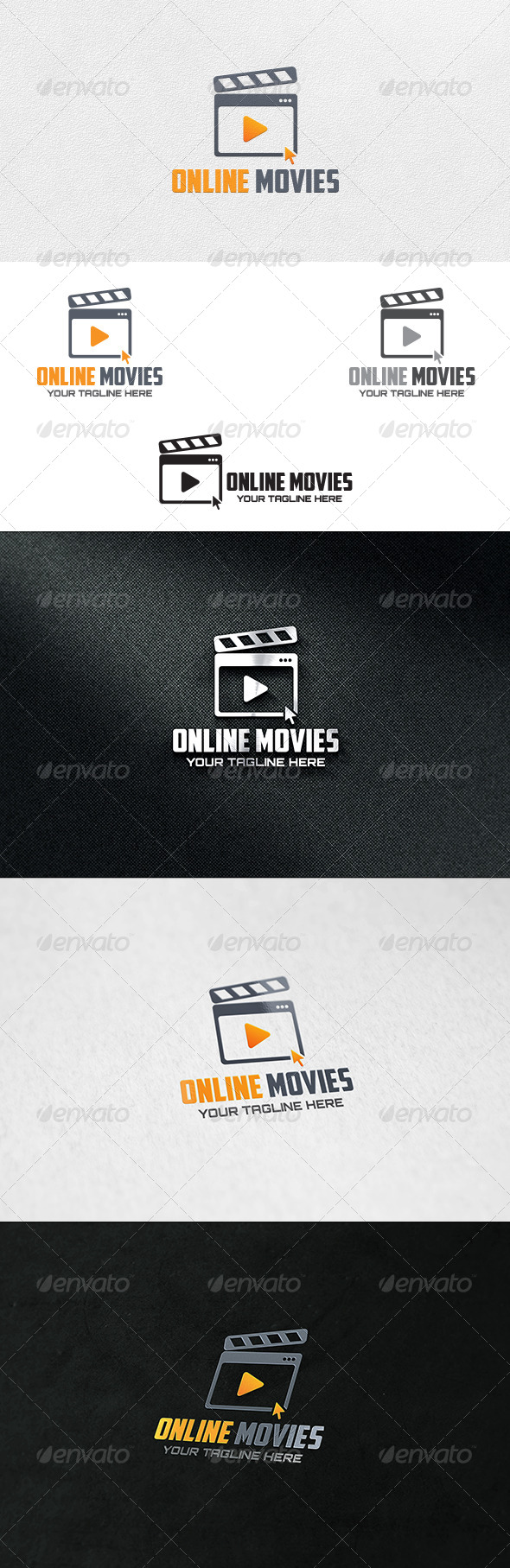 GraphicRiver Online Movies Logo Template 6804806