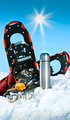 Winter fun with hot chocolate and cookies in the snow - PhotoDune Item for Sale