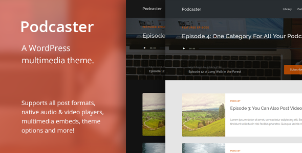 ThemeForest Podcaster Multimedia WordPress Theme 6804946