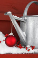 Red ornament on watering can - PhotoDune Item for Sale