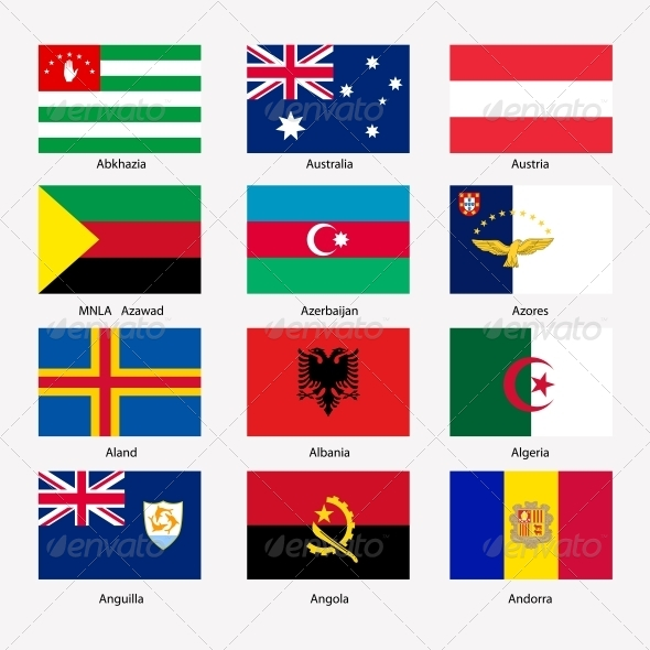 GraphicRiver Flags of World Sovereign States Set 6805019