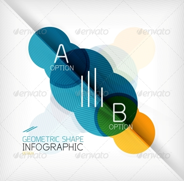 GraphicRiver Glossy Circle Geometric Shape Info Background 6805170