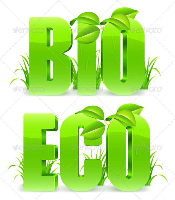 GraphicRiver Bio and Eco Words 6805244