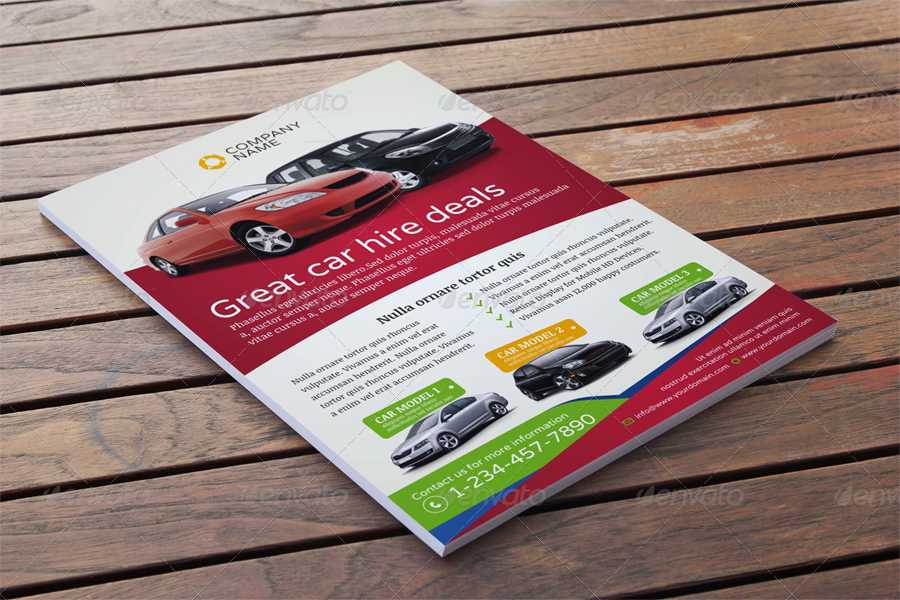 Automotive Car Sale Rental Flyer Ad Template Vol5 by JbnComilla – Car Sale Flyer