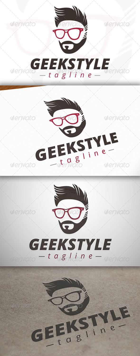 GraphicRiver Geek Style Logo 6805256