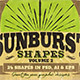 Sunbursts Shapes Vol.2 - GraphicRiver Item for Sale
