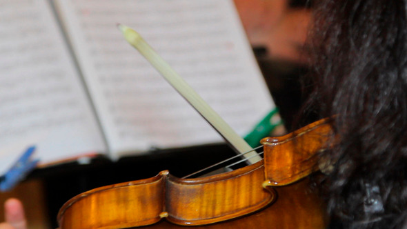 Woman Playingon Violin 1