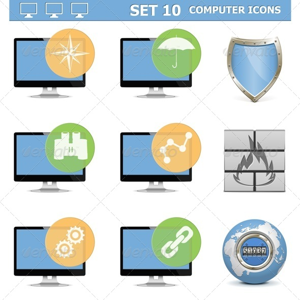 GraphicRiver Computer Icons Set 10 6805767
