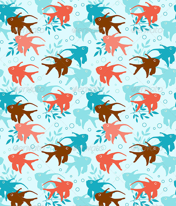 GraphicRiver Seamless Pattern with Tropical Fish 6805773