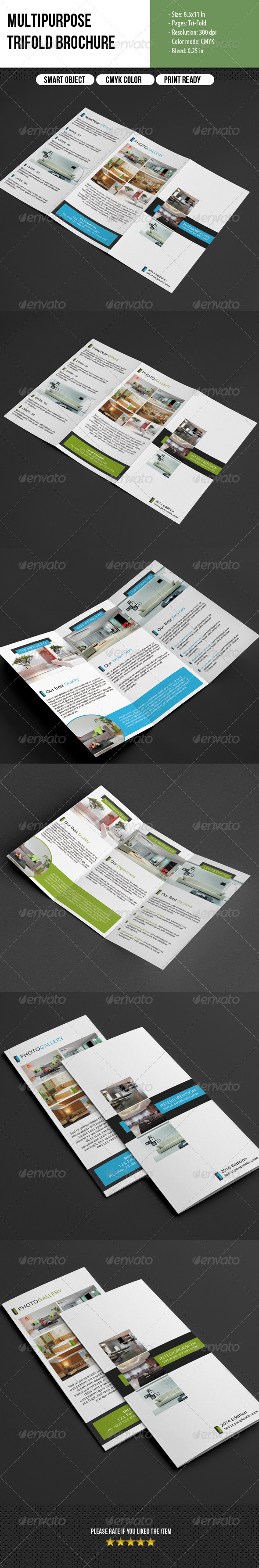 GraphicRiver Multipurpose Trifold Brochure 6805782