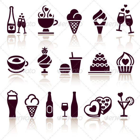 GraphicRiver Set Food Icons 6805787