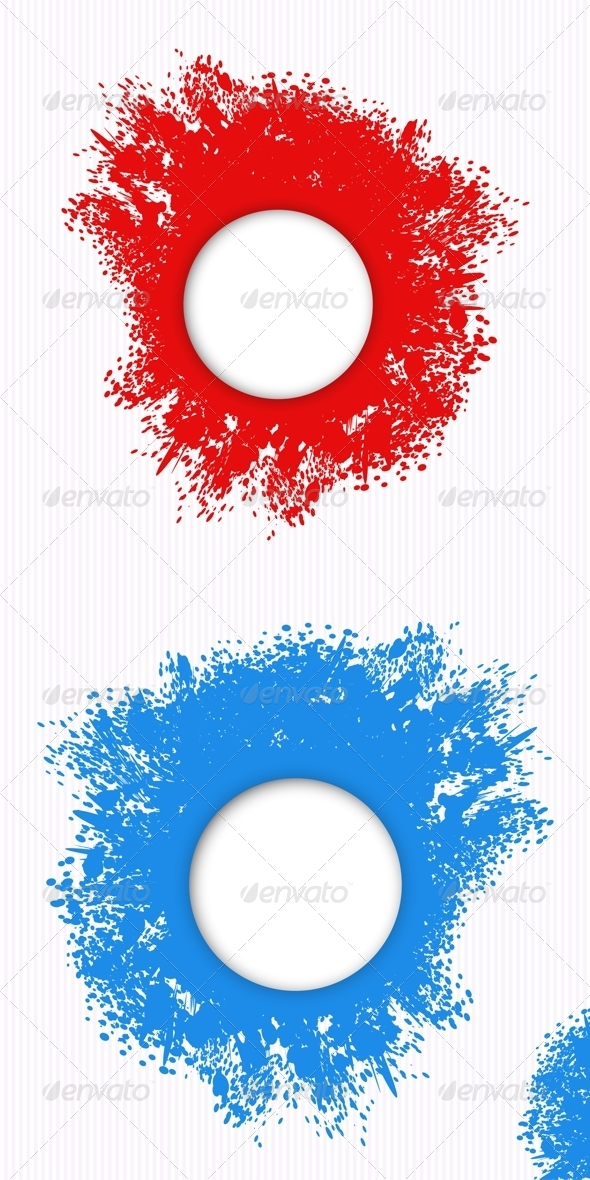 GraphicRiver Red and Blue Splashes of Paint 6805815