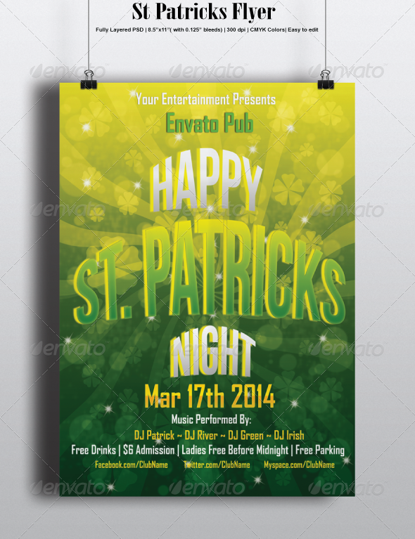 GraphicRiver St Patricks Flyer 6805830