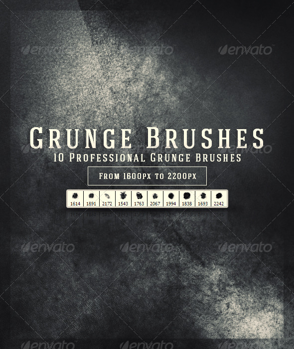GraphicRiver Grunge Brushes 6805831