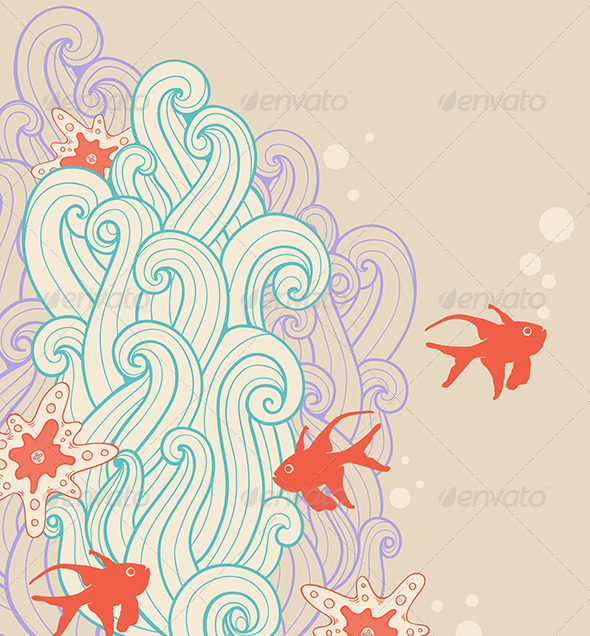 GraphicRiver Marine Backgrounds with Fish 6805835