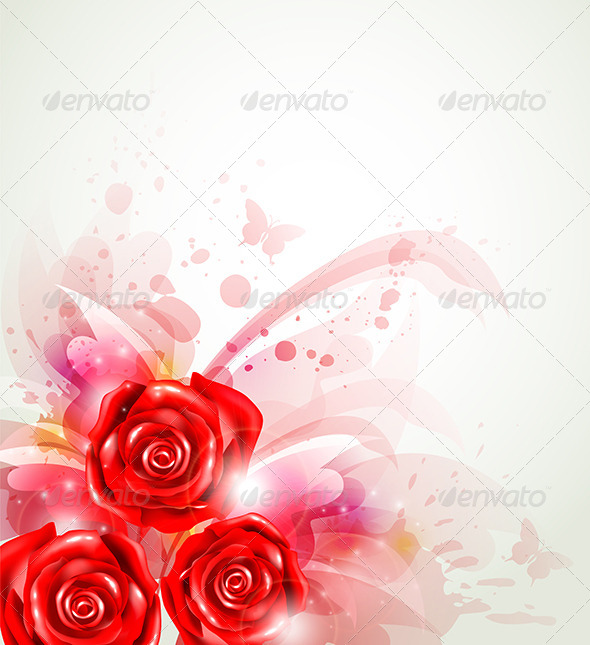 GraphicRiver Abstract Background with Roses 6805843