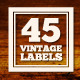 45 Vintage Labels & Badges Logos Bundle - GraphicRiver Item for Sale