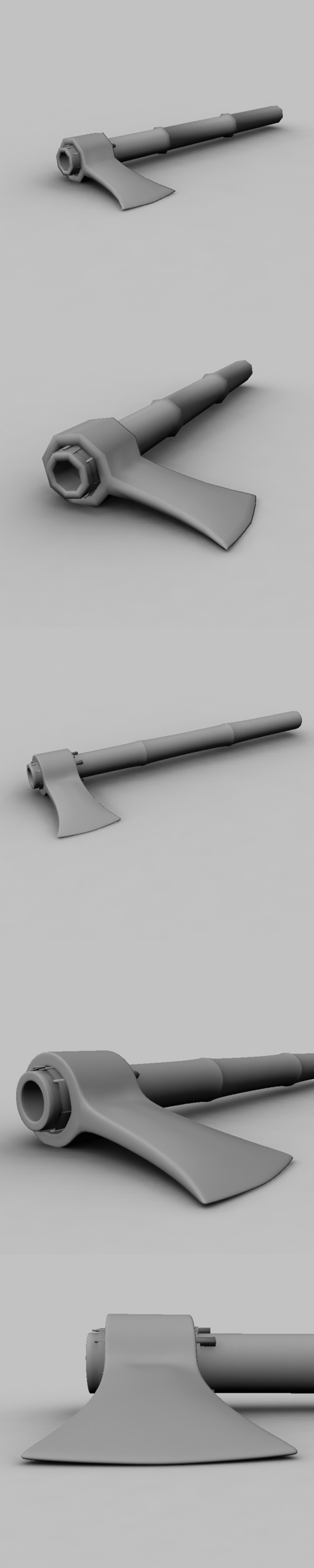 3DOcean Low Poly Axe 6806529